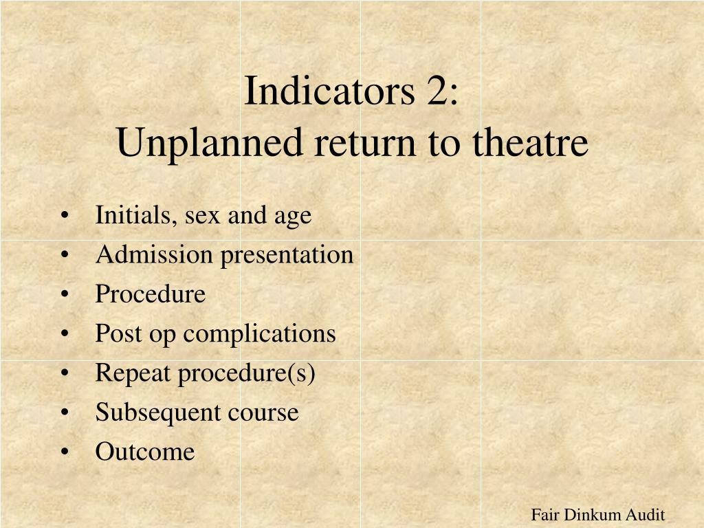 Indicators 2: