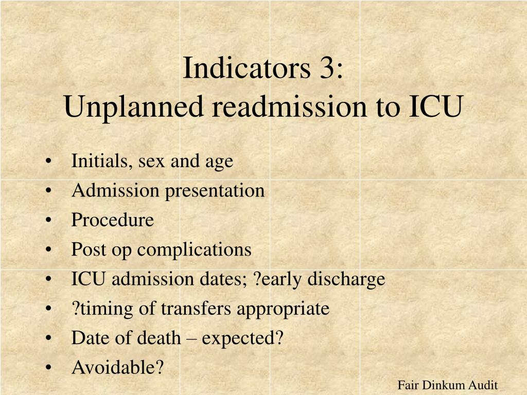 Indicators 3: