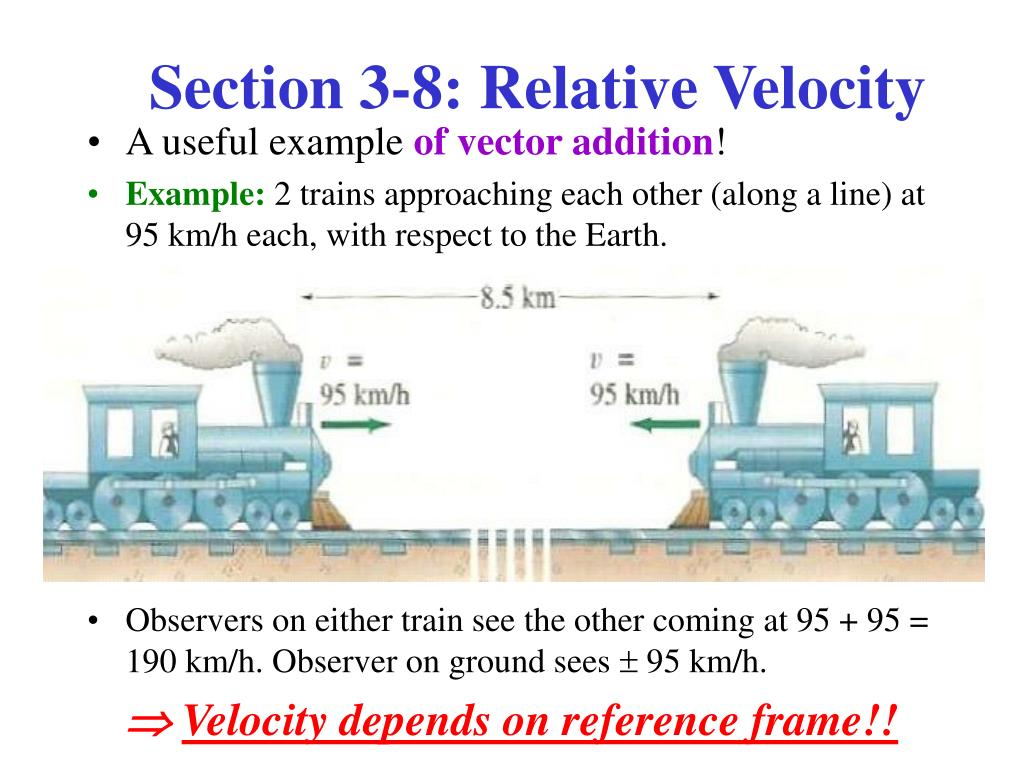 Section 3-8: Relative Velocity