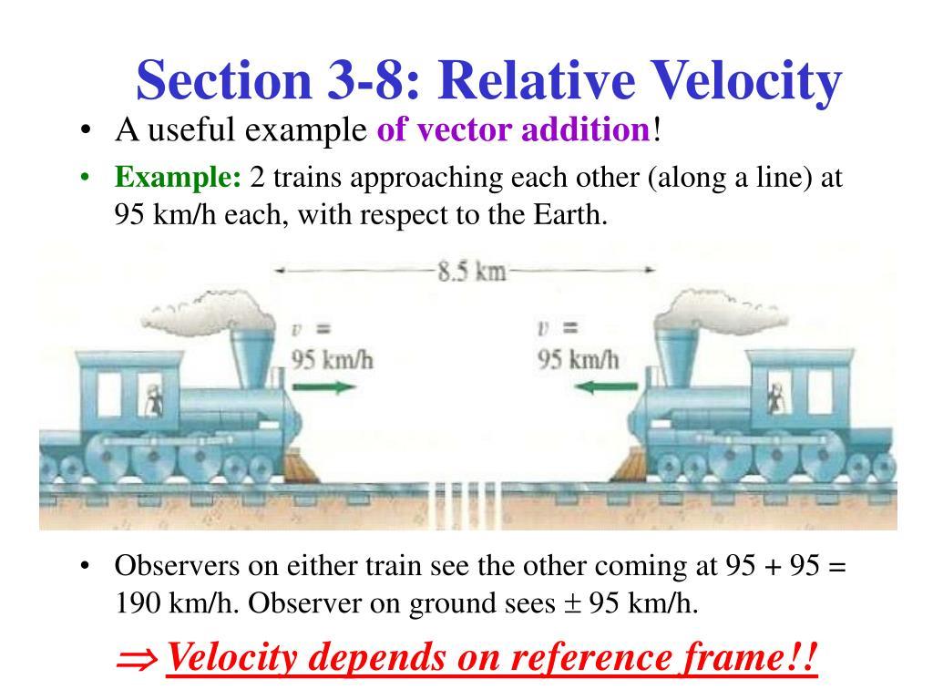 Section 3-8: Relative Velocity