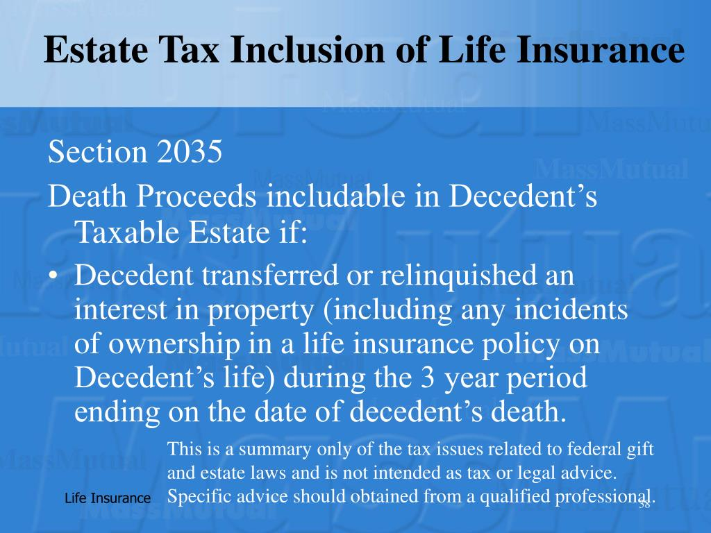 Estate Tax Inclusion of Life Insurance