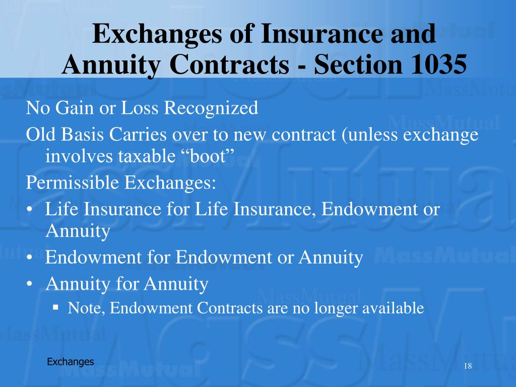 Exchanges of Insurance and