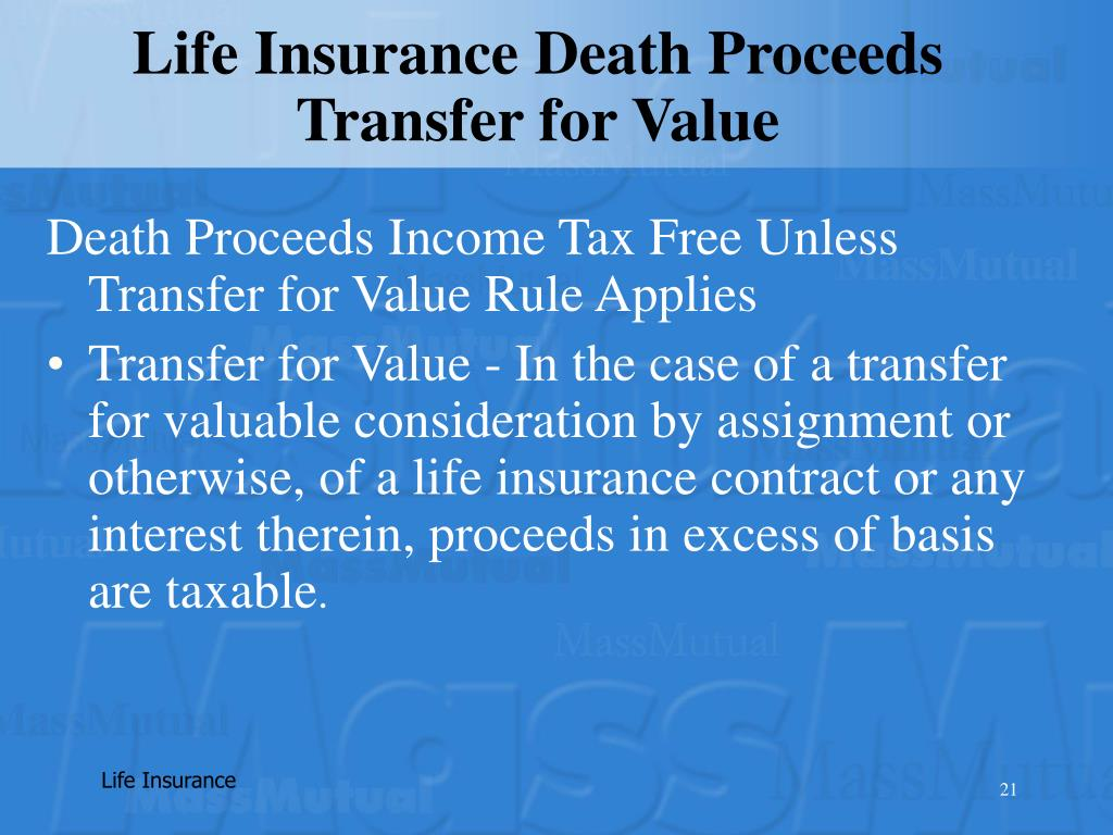 Life Insurance Death Proceeds