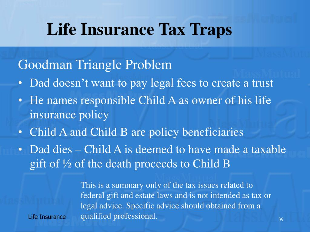 Life Insurance Tax Traps