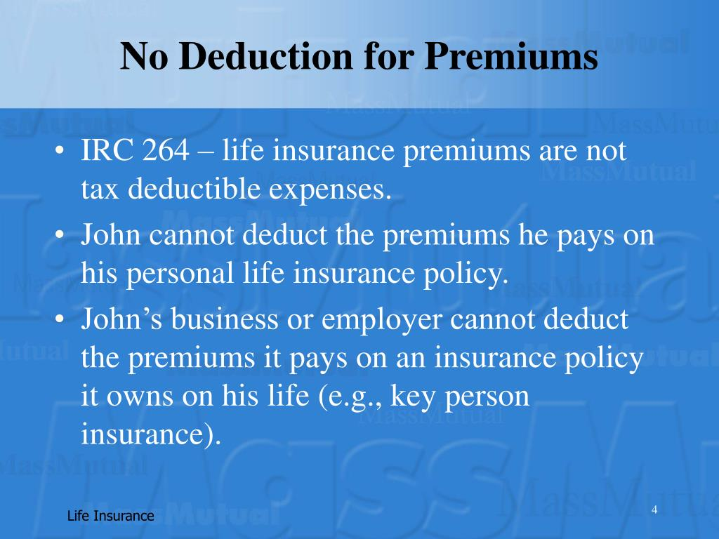 No Deduction for Premiums