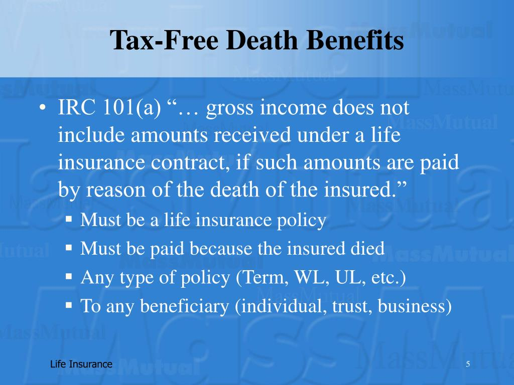 Tax-Free Death Benefits