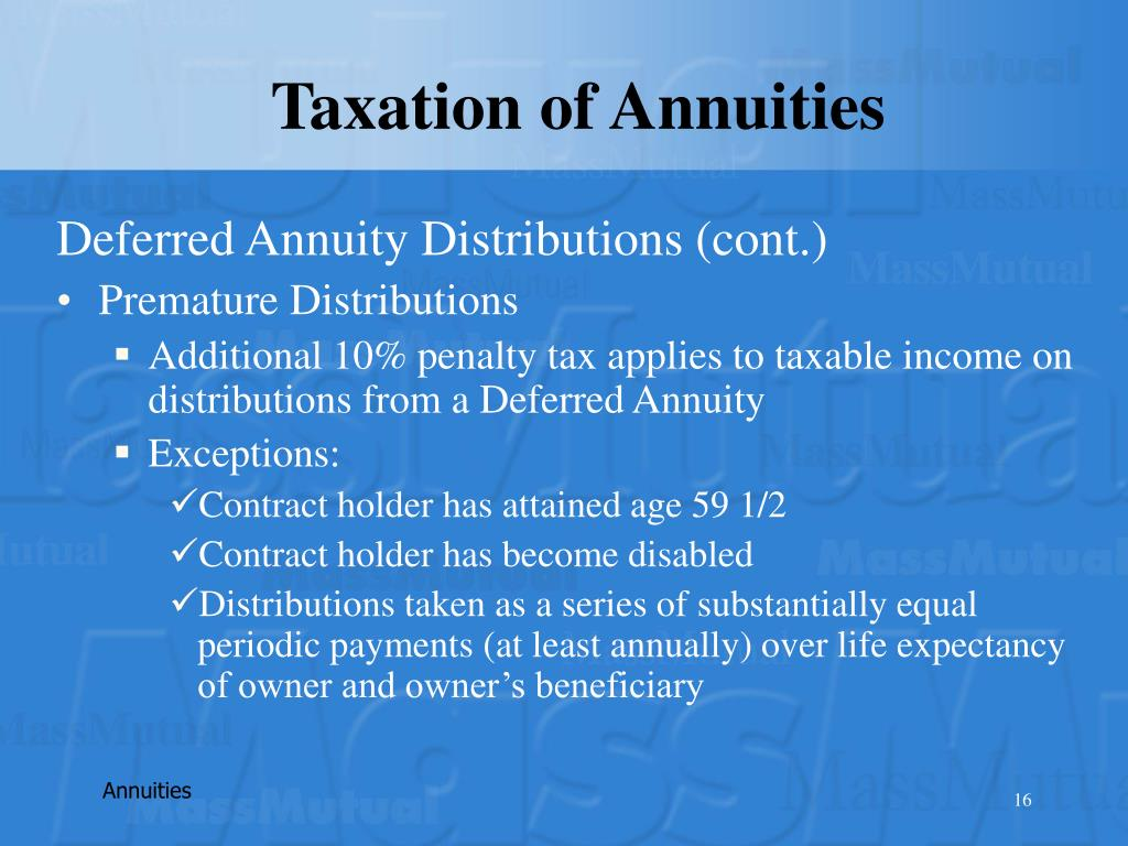 Taxation of Annuities
