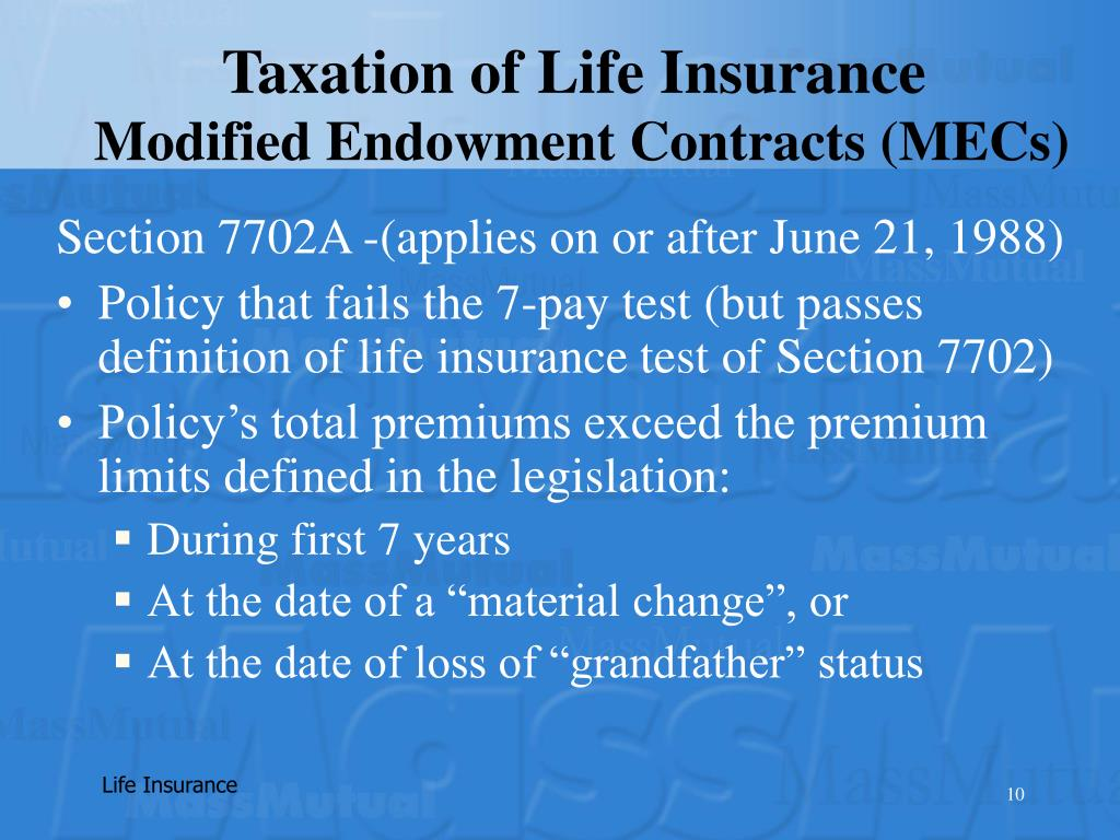 Taxation of Life Insurance
