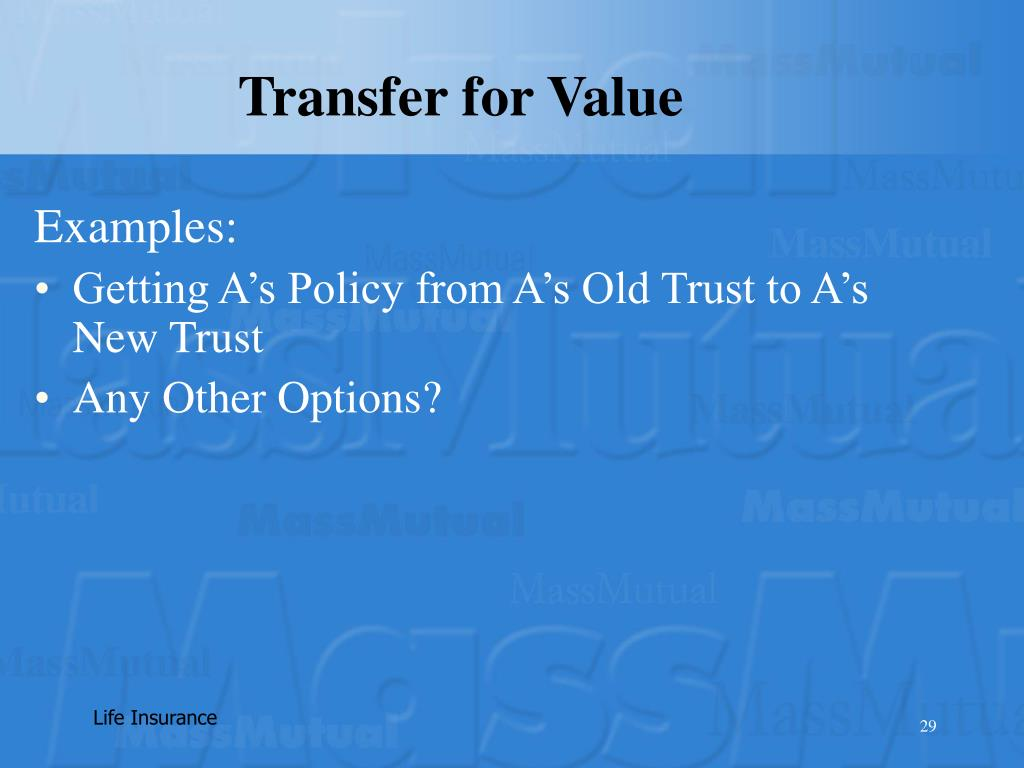 Transfer for Value