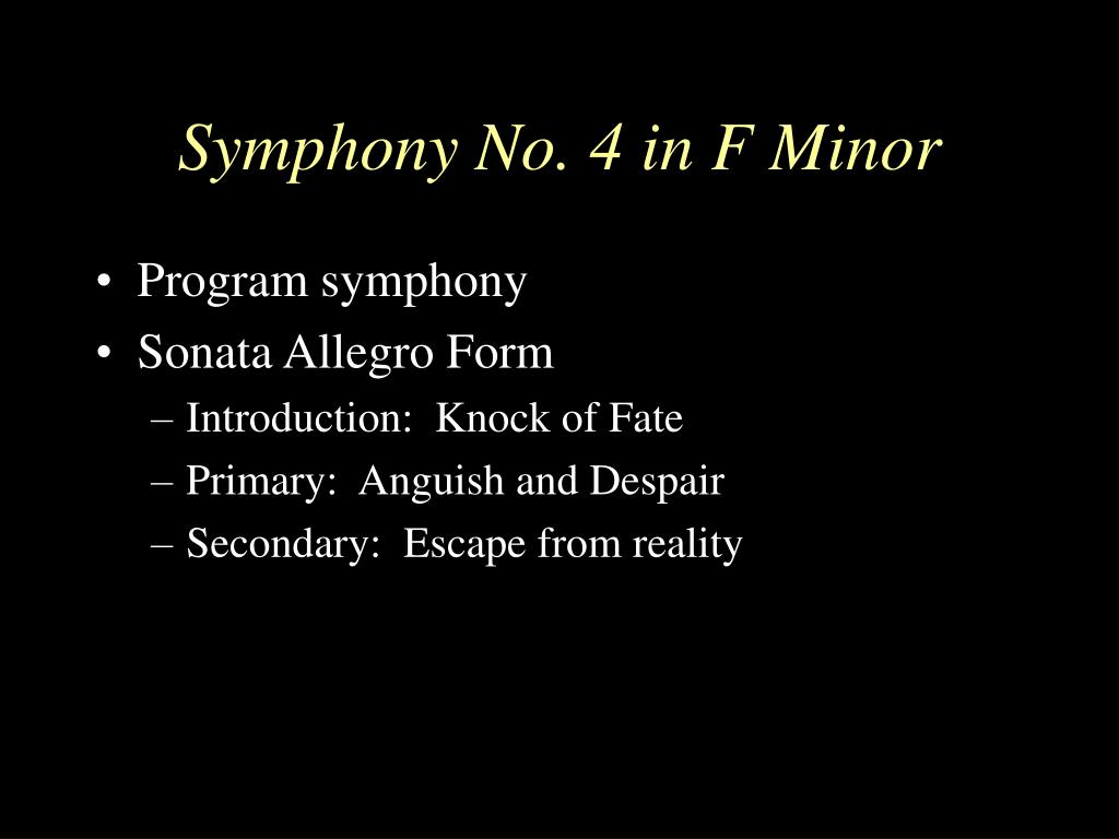 Symphony No. 4 in F Minor