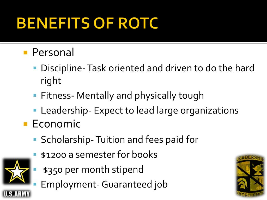 BENEFITS OF ROTC