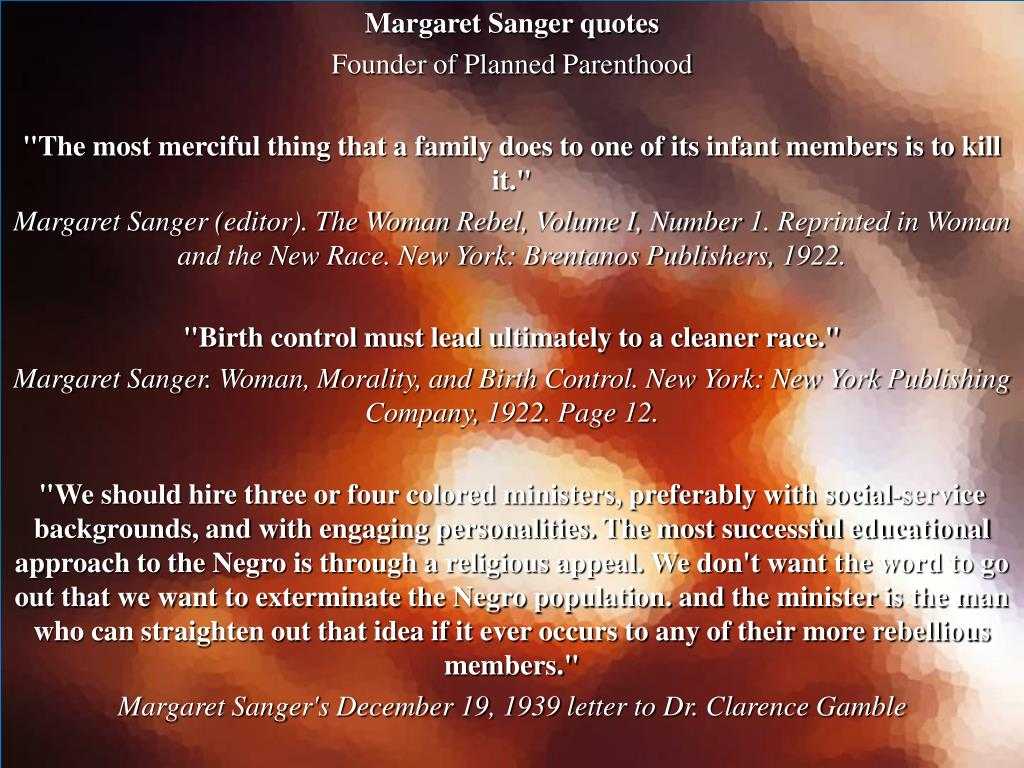 Margaret Sanger quotes