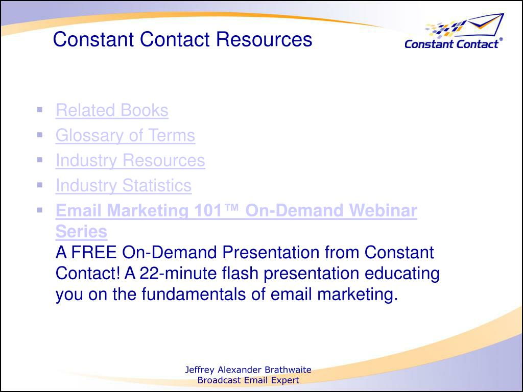 Constant Contact Resources