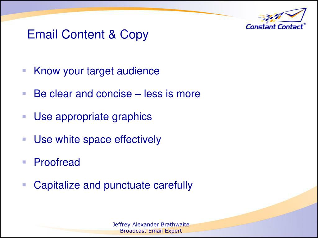 Email Content & Copy