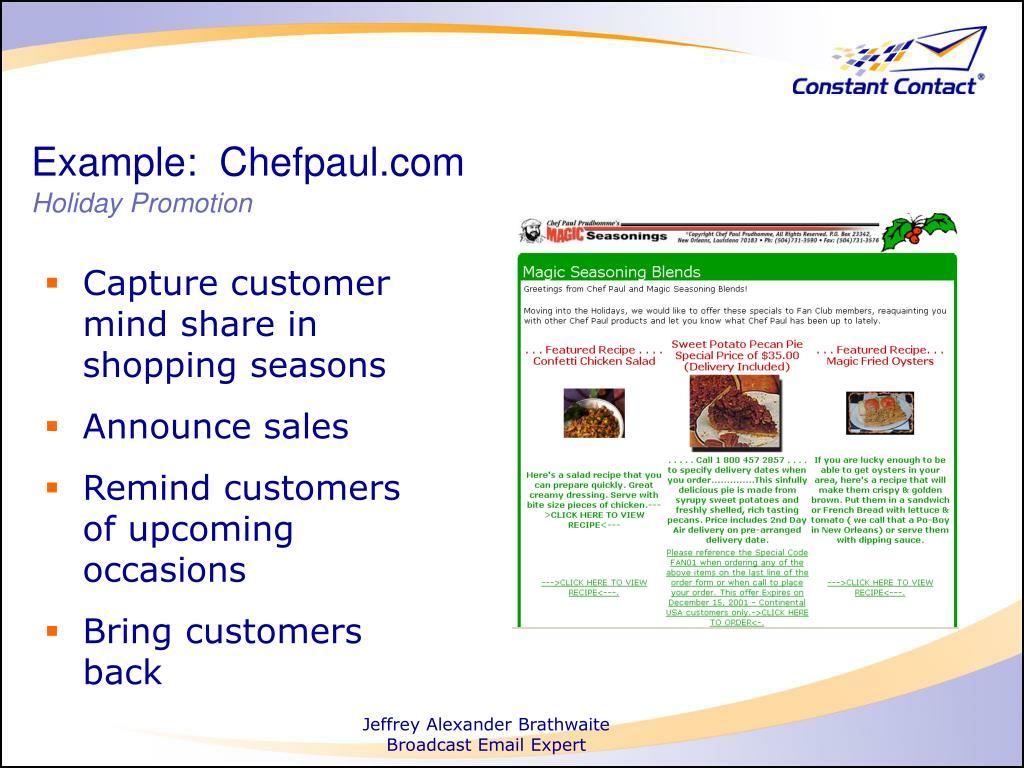 Example:  Chefpaul.com