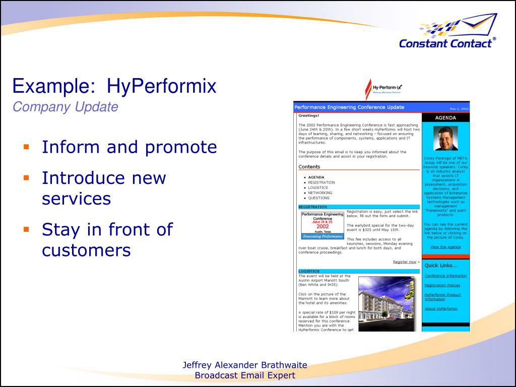 Example:  HyPerformix