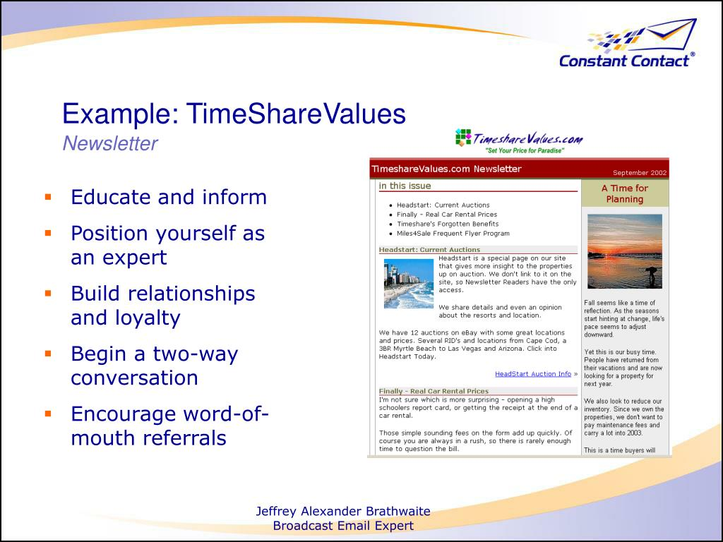 Example: TimeShareValues