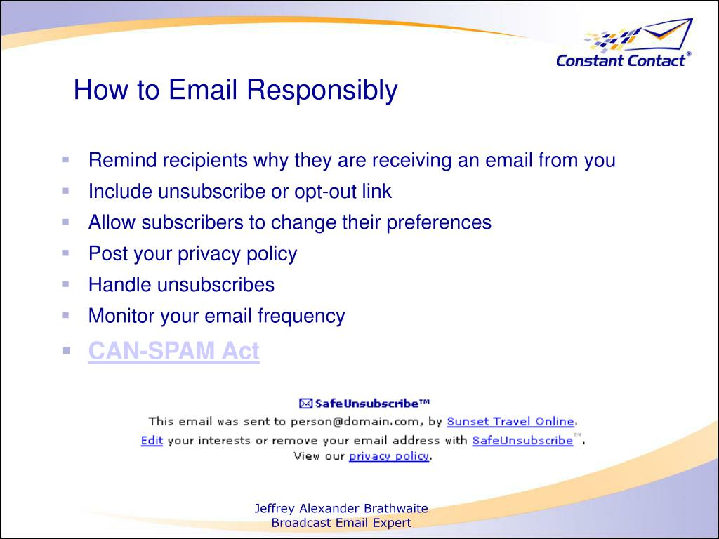 How to Email Responsibly