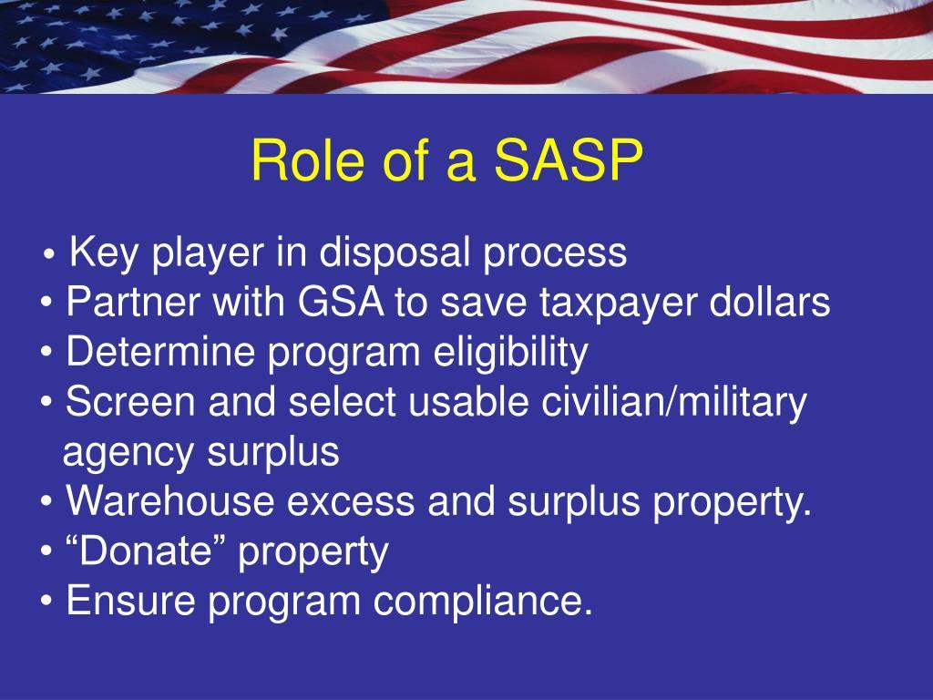 Role of a SASP