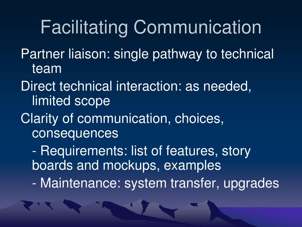 Facilitating Communication
