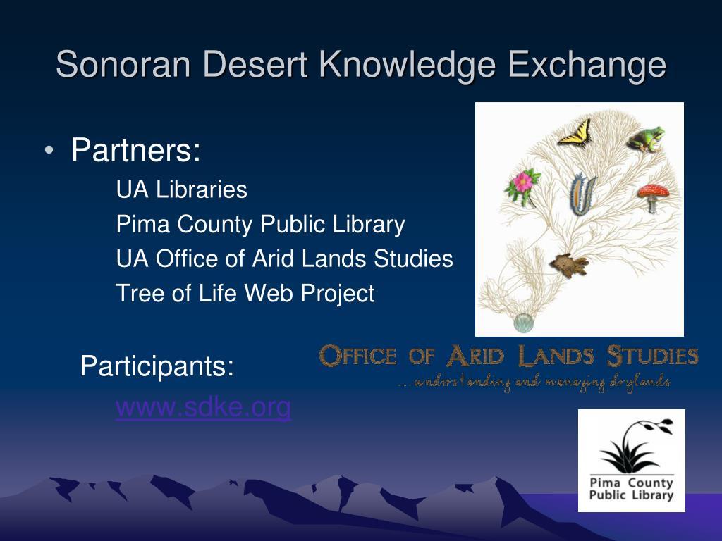 Sonoran Desert Knowledge Exchange