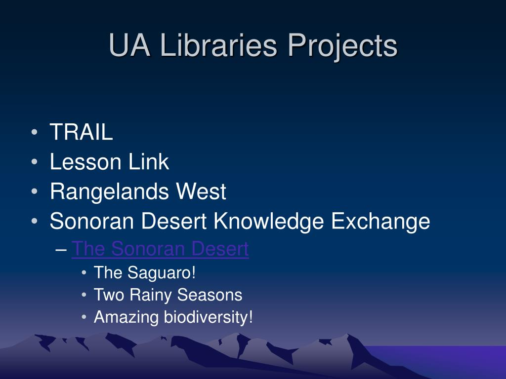 UA Libraries Projects