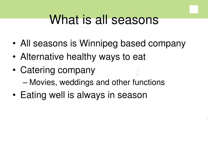 What is all seasons