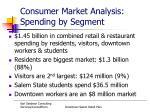 consumer market analysis spending by segment