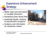 experience enhancement strategy