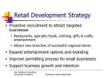 retail development strategy