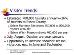 visitor trends