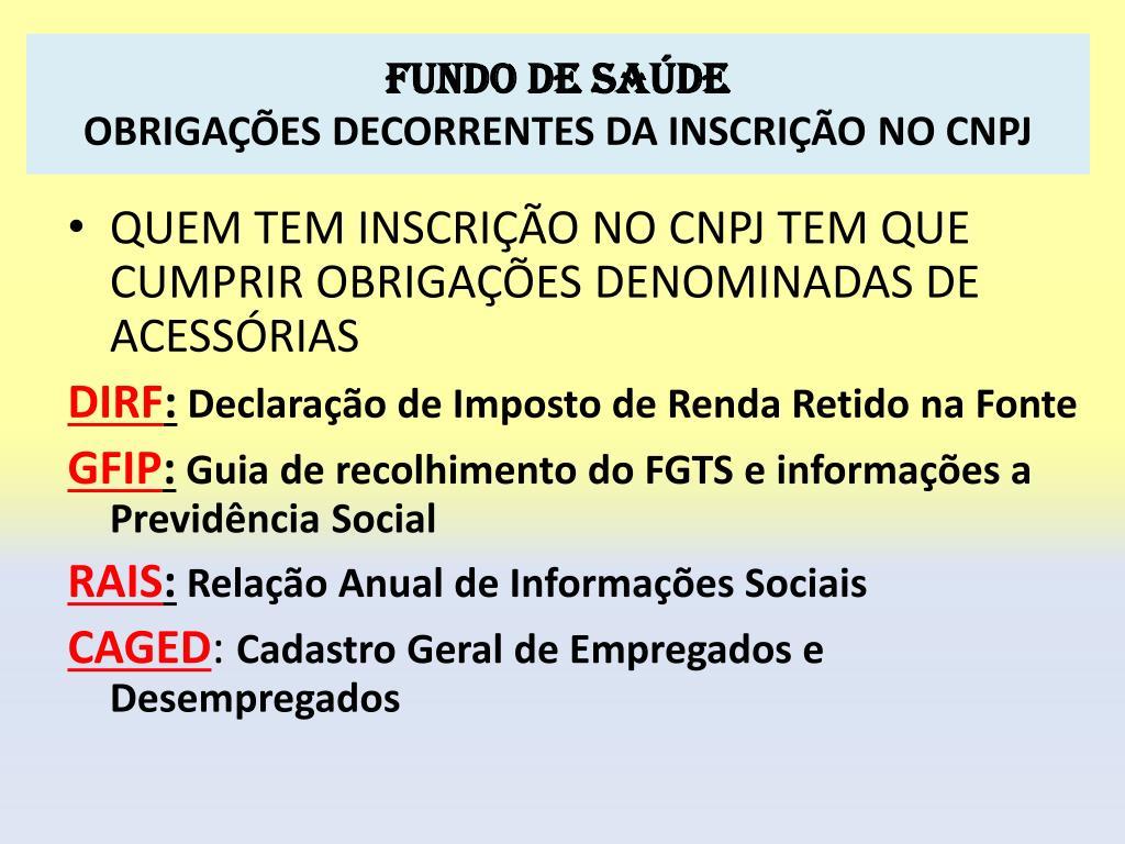 FUNDO DE SAÚDE