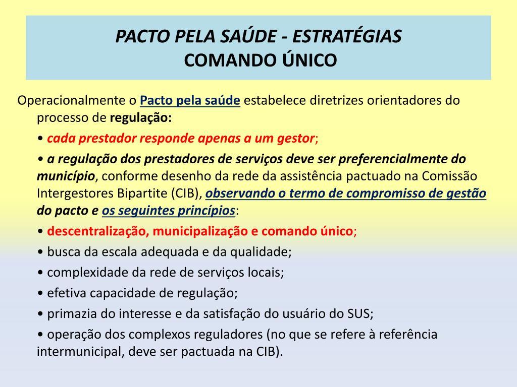 PACTO PELA SAÚDE - ESTRATÉGIAS