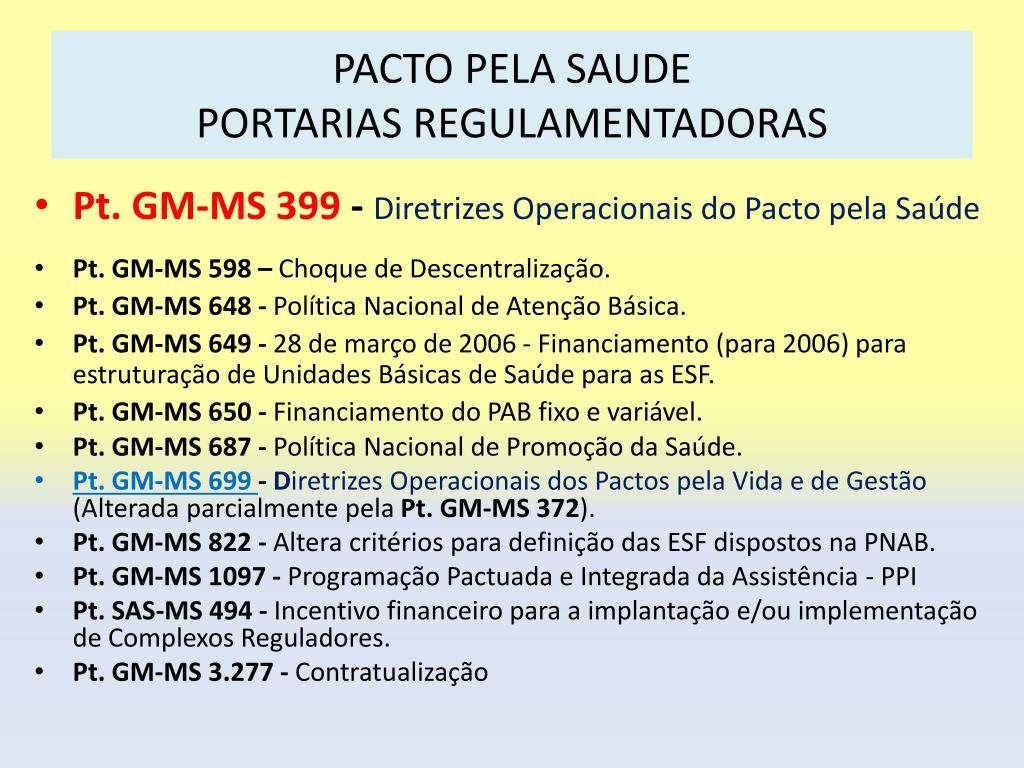 PACTO PELA SAUDE