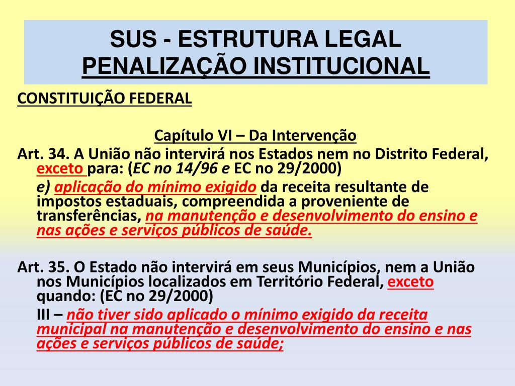 SUS - ESTRUTURA LEGAL