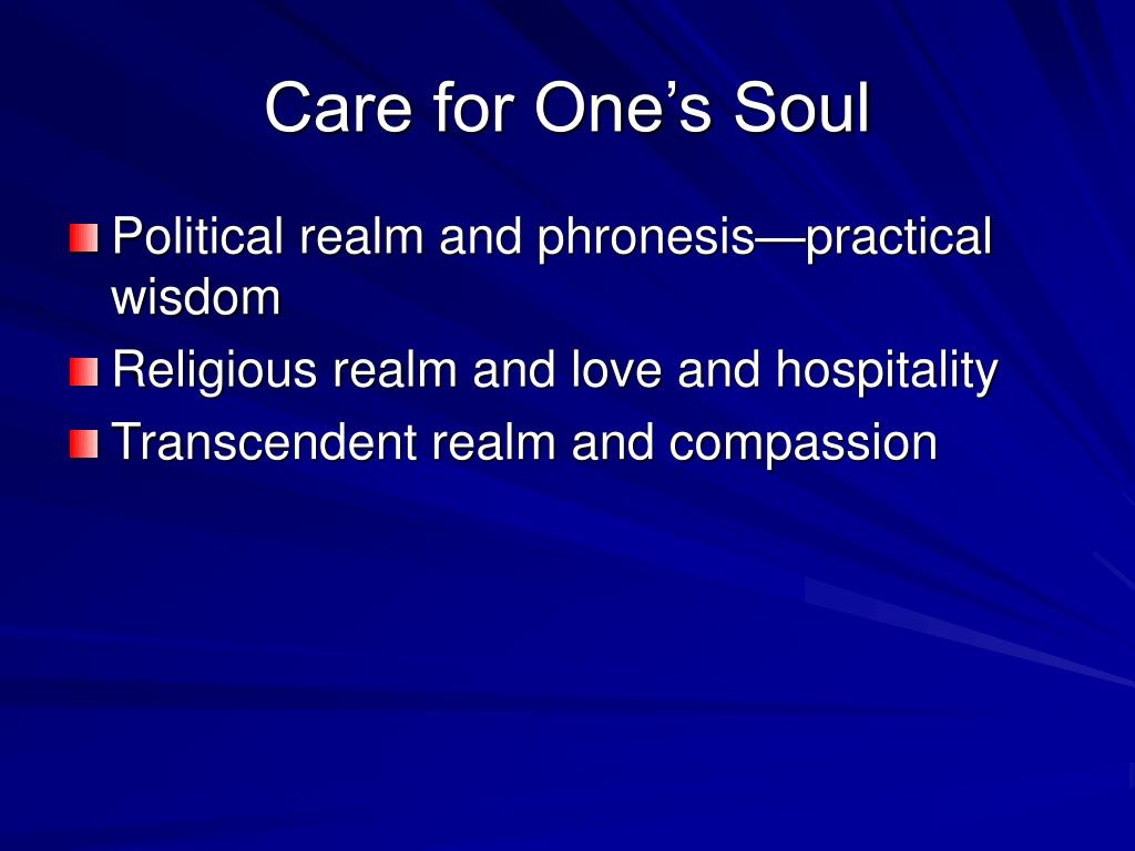 Care for One's Soul