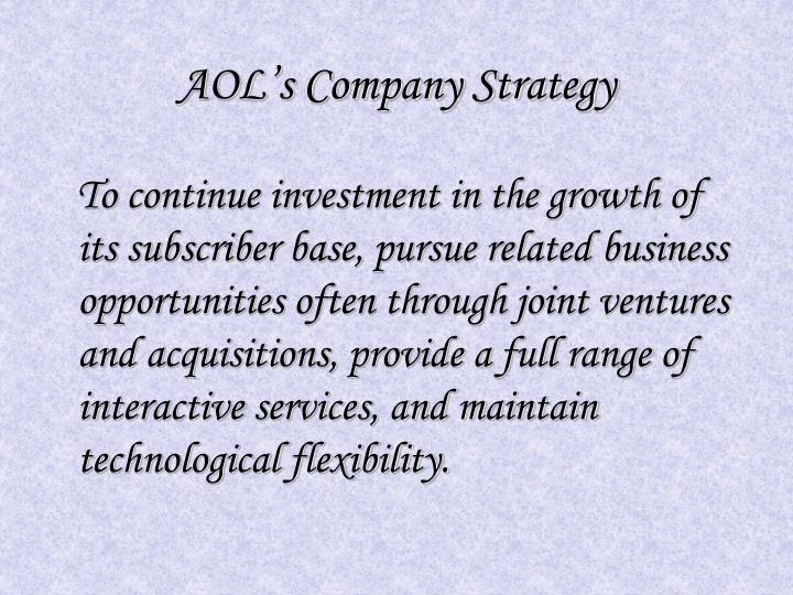 Aol s company strategy