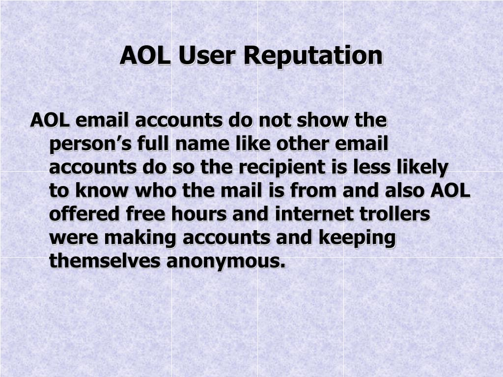 AOL User Reputation