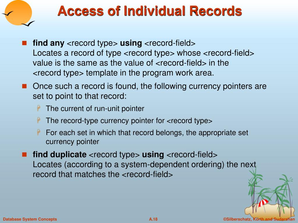 Access of Individual Records
