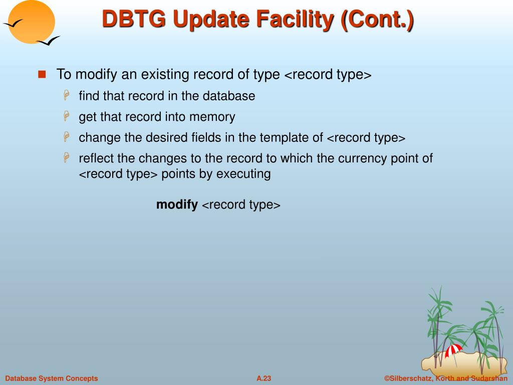 DBTG Update Facility (Cont.)