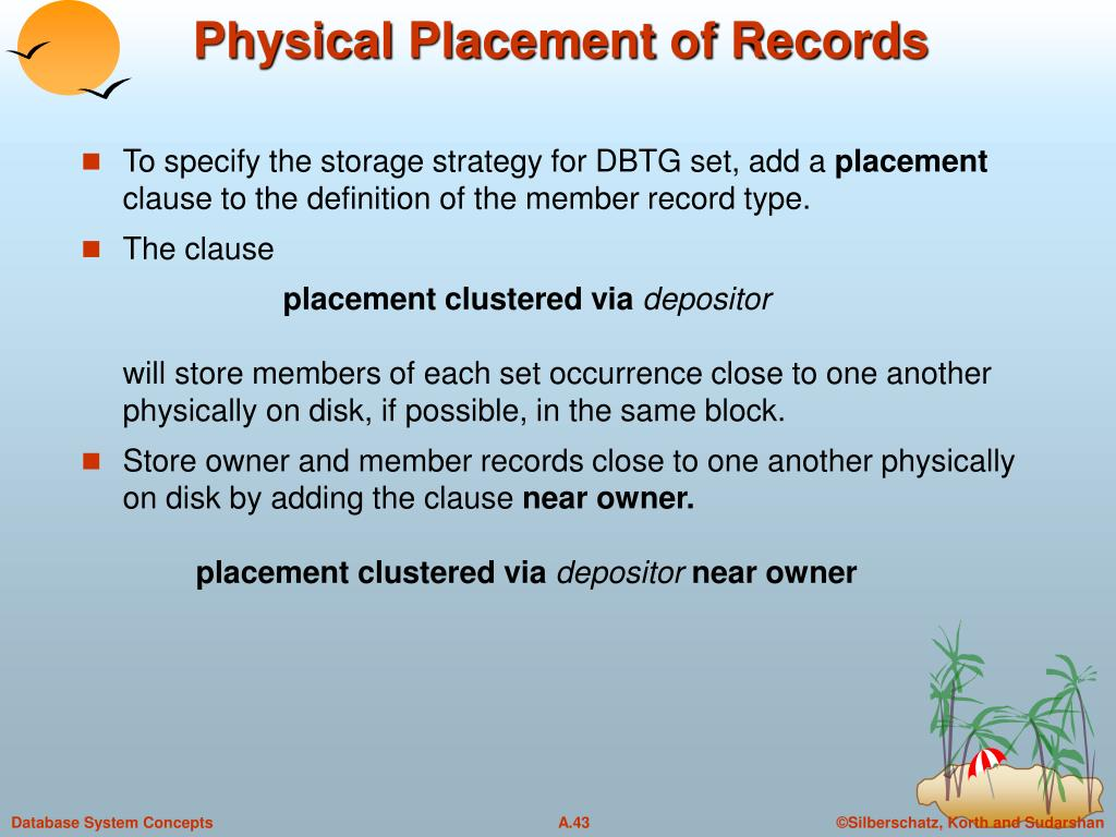 Physical Placement of Records