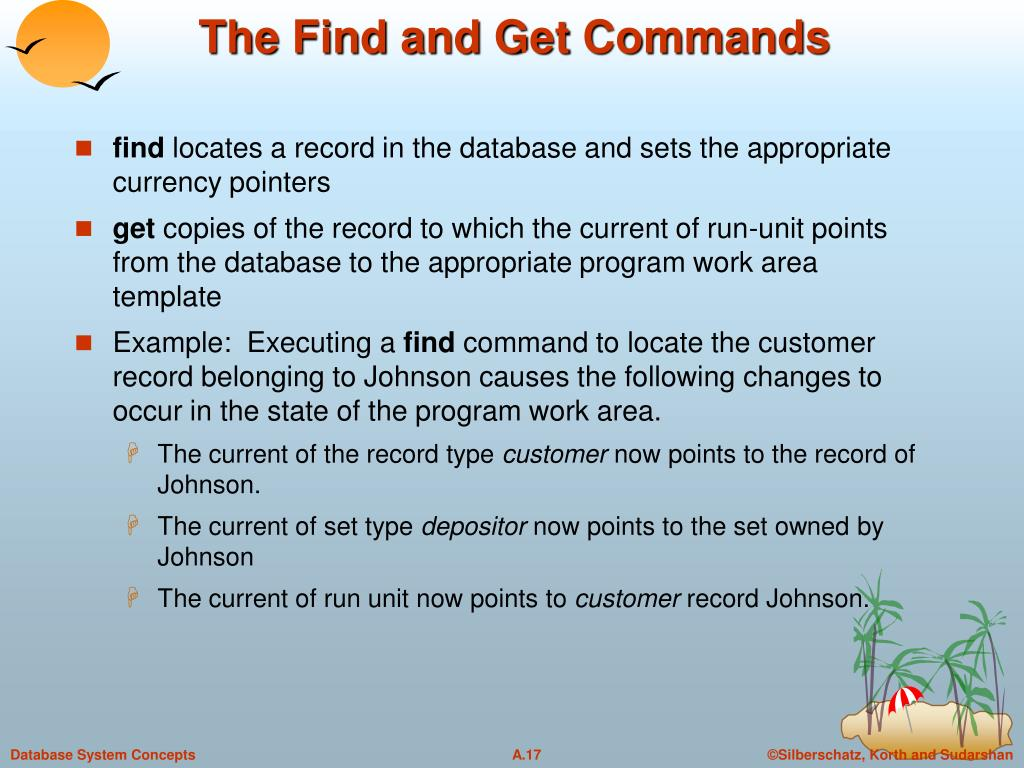 The Find and Get Commands