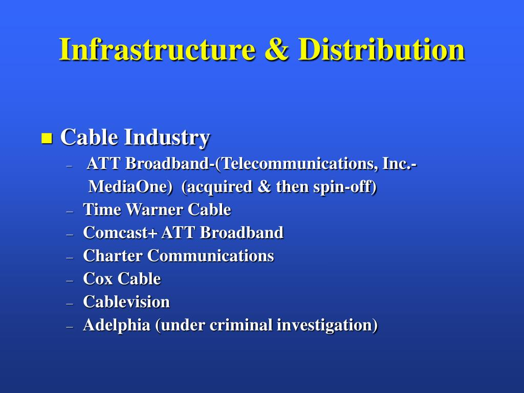 Infrastructure & Distribution