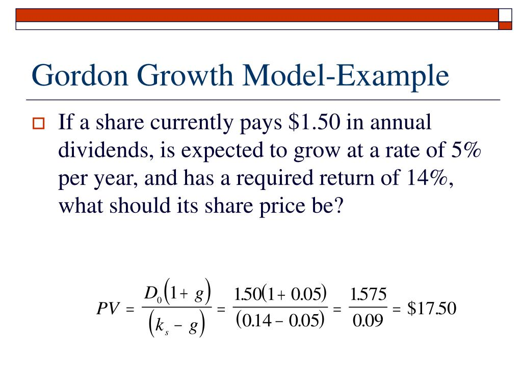 Gordon Growth Model-Example