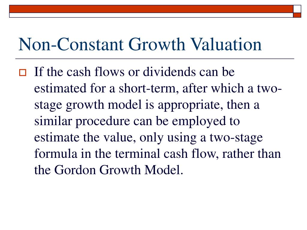 Non-Constant Growth Valuation