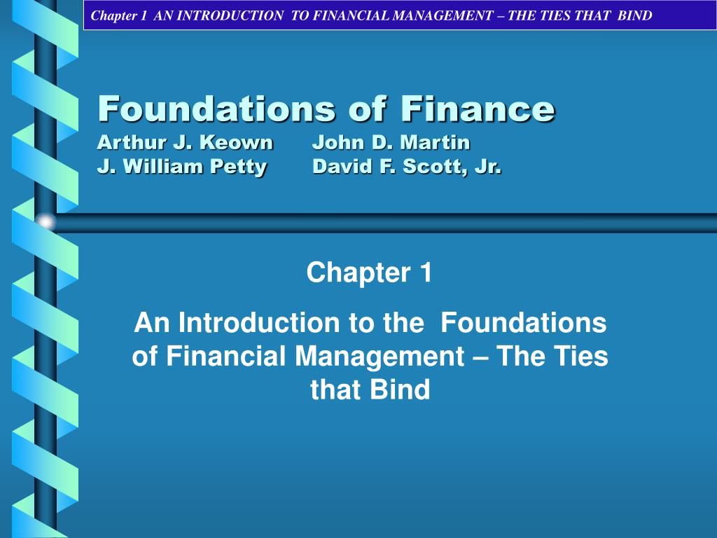 foundations of finance Welcome to the foundations of finance you'll learn about: basics of interest rates, impact of interest rates, effects on your personal finances, situations where you pay or receive interest, and opportunities and risks.