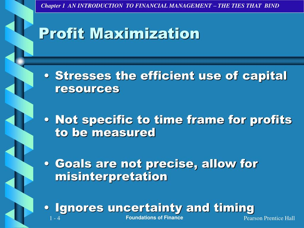 profit maximization maximization shareholder wealth The shareholder wealth maximization (swm) principle states that the   traditional profit-maximization model of the firm embeds the accrual concept of  net.