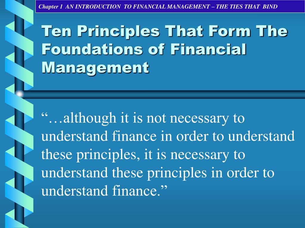 Foundation of finance