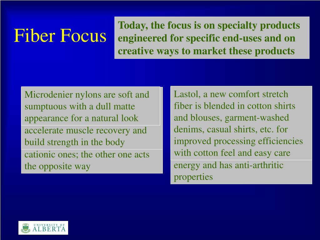 Today, the focus is on specialty products engineered for specific end-uses and on creative ways to market these products