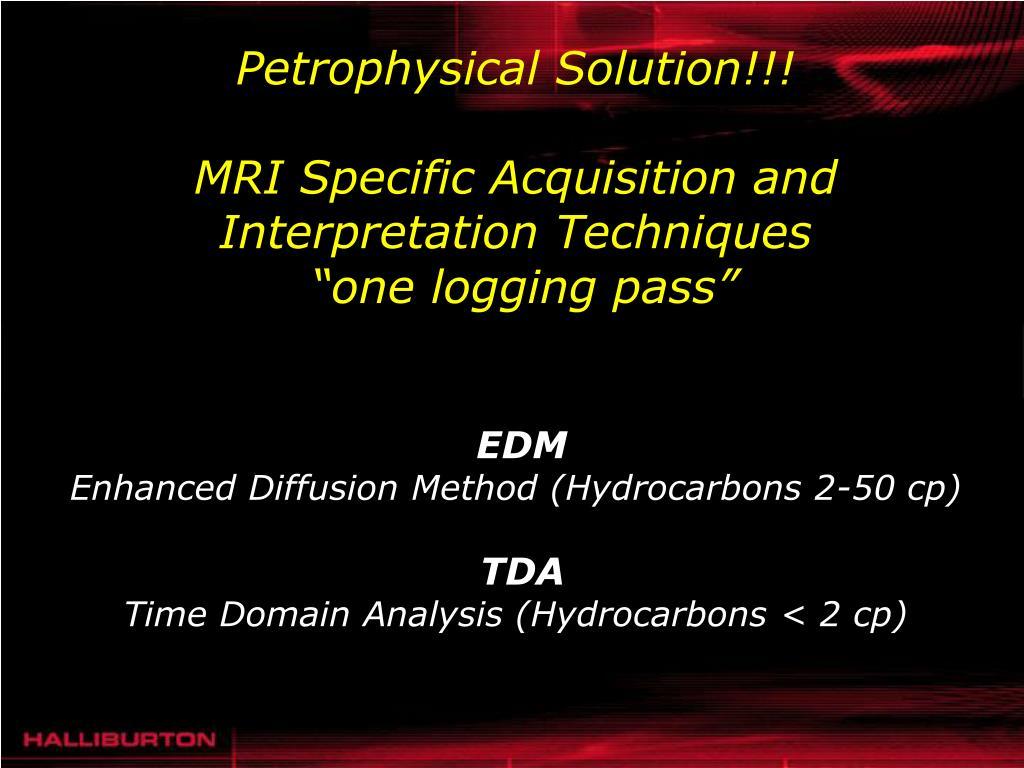 Petrophysical Solution!!!